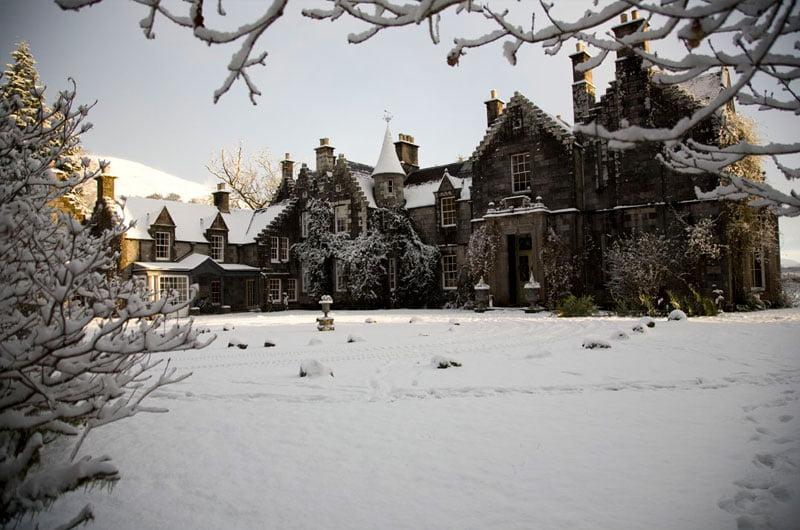 Ardanaiseig Hotel Snow