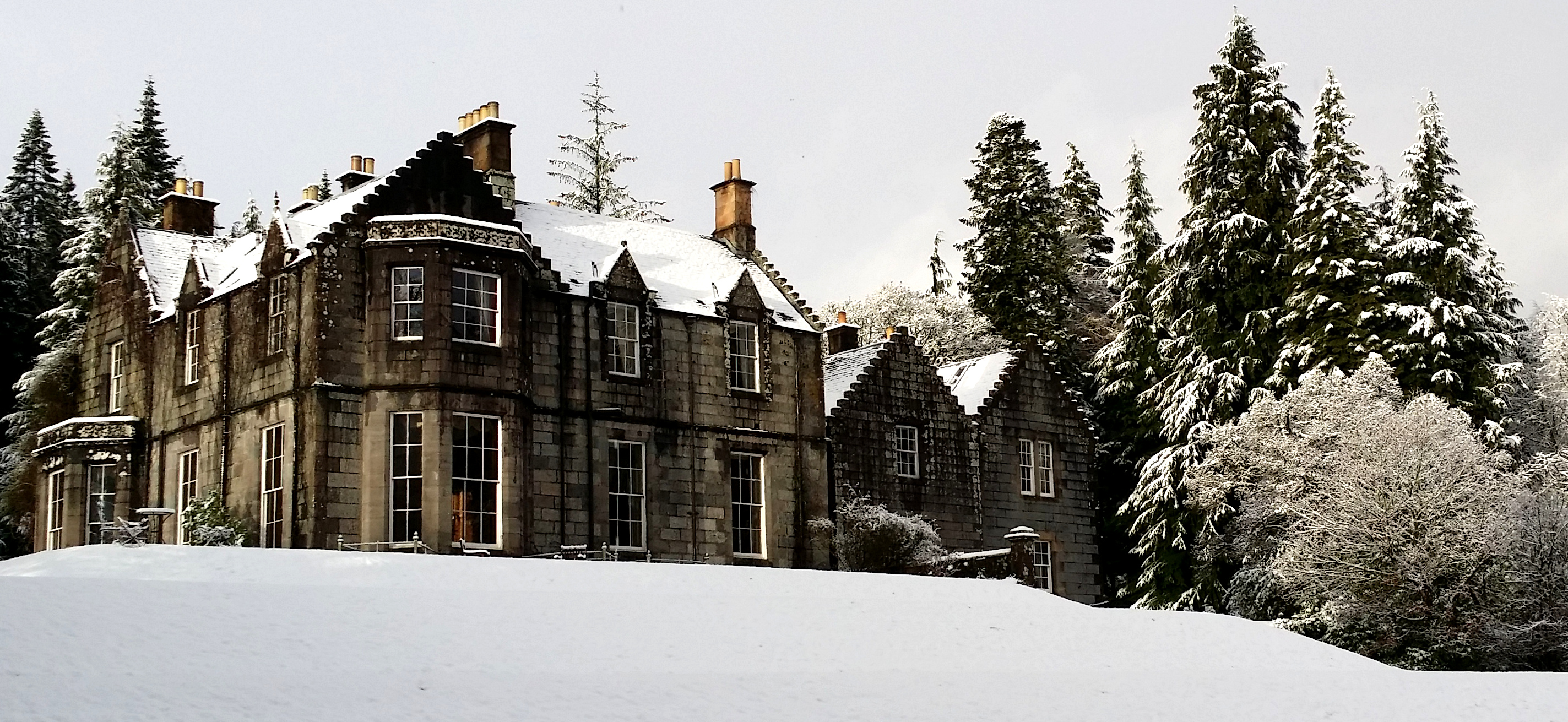 Ardanaiseig in the snow