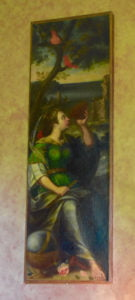 One of the six paintings of the Greek muses