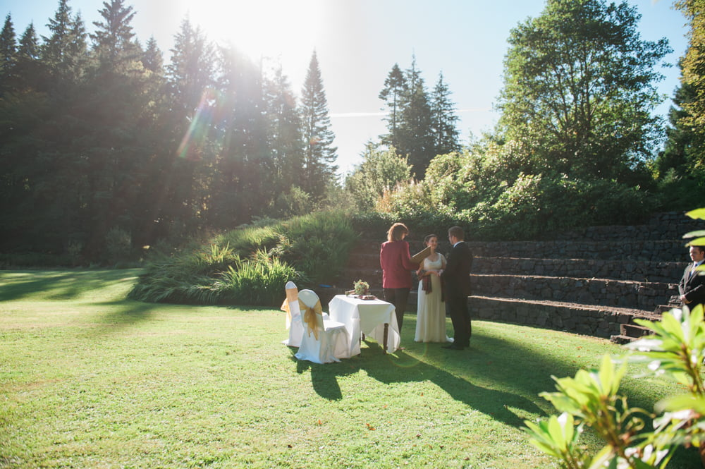 A wedding ceremony in the amphitheatre