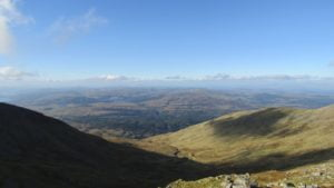 The mountain provides spectacular views of the surrounding area (photo courtesy of Ardanaiseig Hotel kitchen team member Sebastien Gouwy)