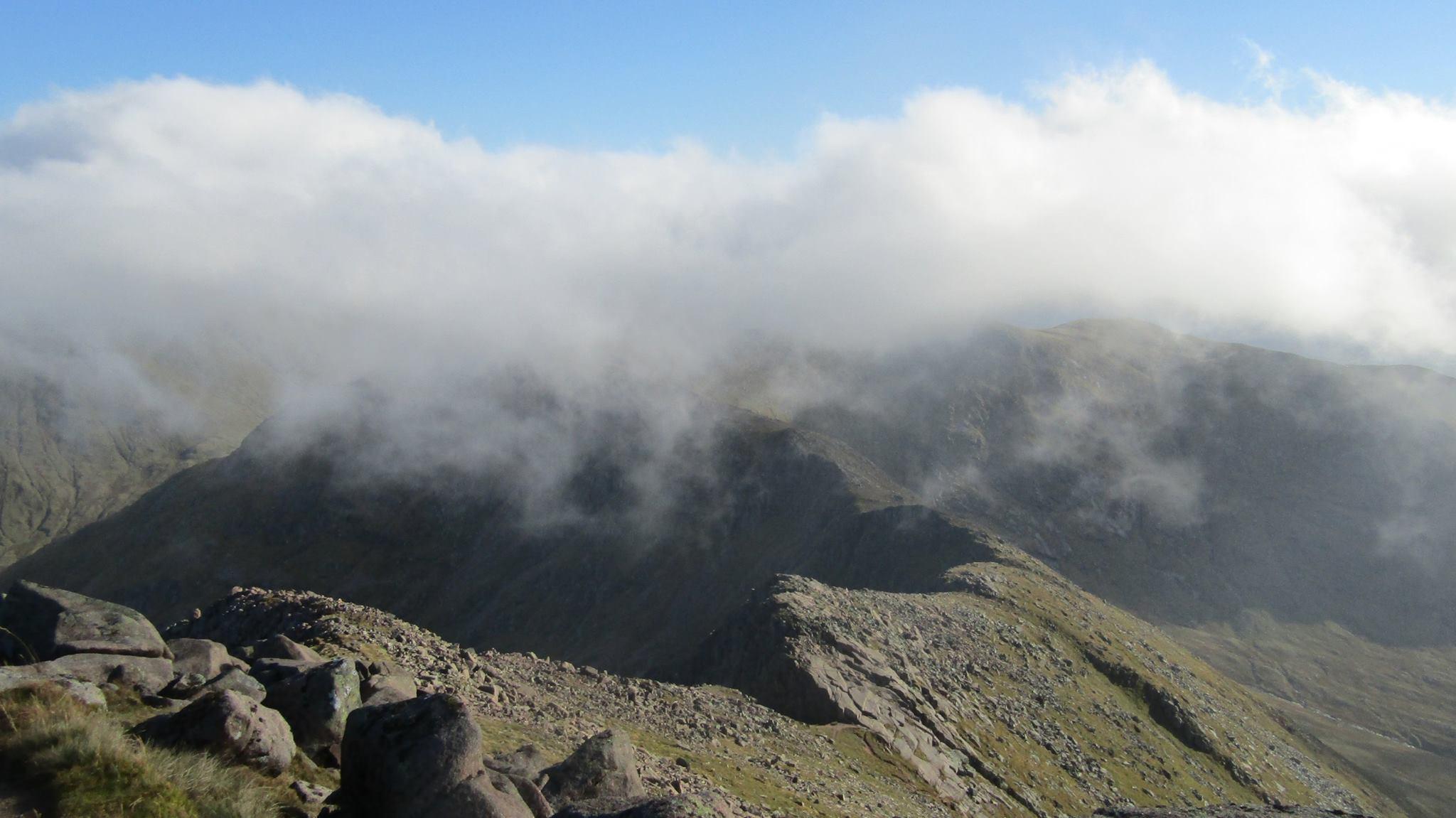 Ben Cruachan ridge (photo courtesy of Ardanaiseig Hotel kitchen team member Sebastien Gouwy)
